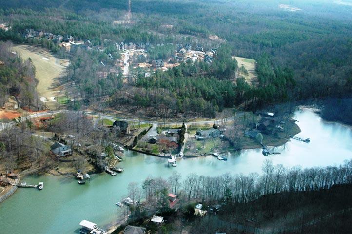 Economic development along a lakeshore