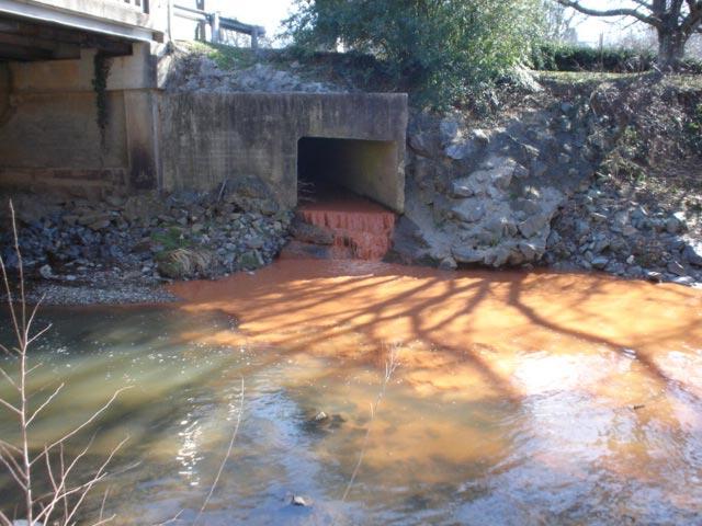 Muddy water discharge