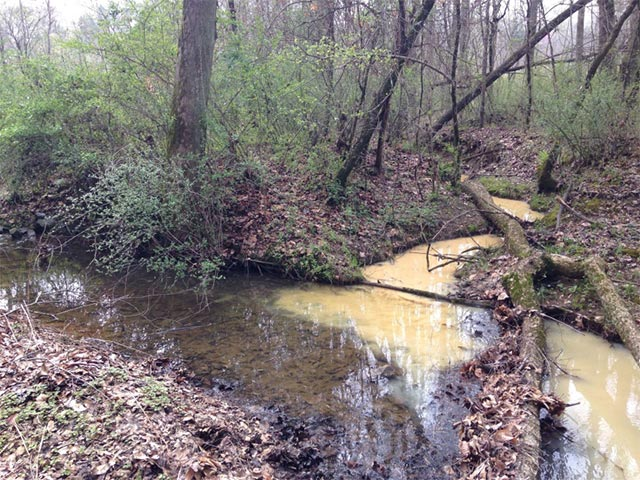Sediment Entering Creek